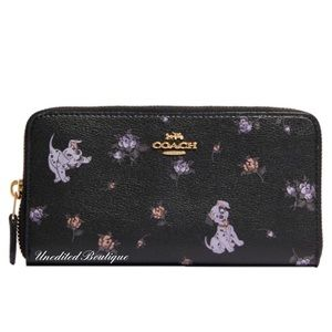 COACH X DISNEY Accordion Zip Wallet Dalmatian